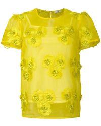 P.A.R.O.S.H. - Blusa con ricami a fiore - Lyst