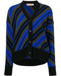 Marni - Striped Cardigan - Lyst