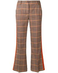P.A.R.O.S.H. - Checked Kickflare Trousers - Lyst