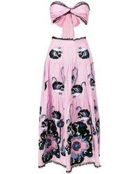 Yuliya Magdych | Cut-out Poppy Print Dress | Lyst