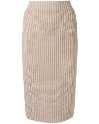Iris Von Arnim - Knitted Pencil Skirt - Lyst