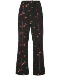 G.v.g.v - Jacquard Floral Trousers - Lyst