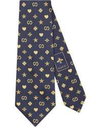Gucci - Corbata Symbols con motivo - Lyst