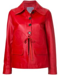 ALEXACHUNG - Buttoned Leather Jacket - Lyst