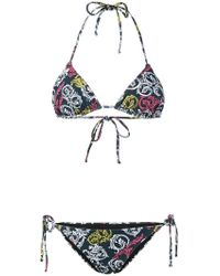 Mary Katrantzou - Queens Teal Bikini Set - Lyst