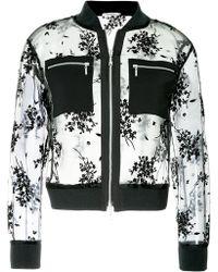 Guild Prime - Floral Mesh Bomber Jacket - Lyst