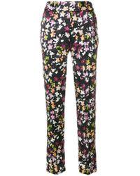 Equipment - Slit Cuff Foliage Print Trousers - Lyst