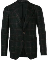 Tagliatore - Checked Tailored Blazer - Lyst
