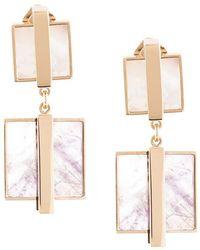 Crystalline - Shell & Flourite Clip-on Earrings - Lyst