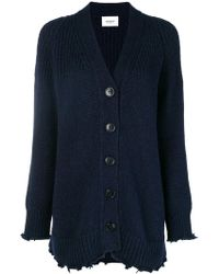 Dondup - Frayed Hem Knitted Cardigan - Lyst