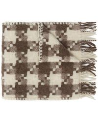 Our Legacy - Fringed Check Scarf - Lyst