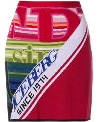 Iceberg - Logo Intarsia Knitted Skirt - Lyst