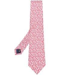 Ferragamo - Sailboat Print Tie - Lyst