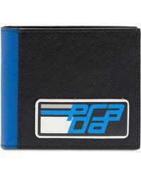 Prada - Saffiano Leather Logo Wallet - Lyst