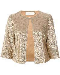 Goat - Cropped Sequin Jacket - Lyst