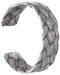 Aurelie Bidermann | 'braided' Open Bracelet | Lyst