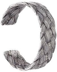 Aurelie Bidermann | 'braided' Open Bracelet | Lyst