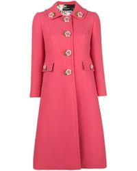 Dolce   Gabbana - Cappotto sartoriale monopetto con applicazioni a forma di  fiori - Lyst 8f337418676