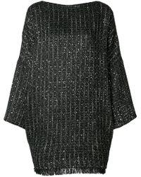 Talbot Runhof - Boxy Fit Tweed Dress - Lyst