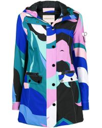 Emilio Pucci - Colour-block Fitted Coat - Lyst