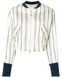 3.1 Phillip Lim - Striped Bomber Jacket - Lyst