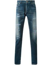 HL Heddie Lovu - Distressed Slim Fit Jeans - Lyst