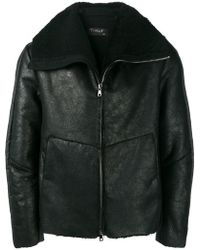 Transit - Zip-up Leather Jacket - Lyst