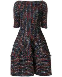 Talbot Runhof - Flared Tweed Dress - Lyst