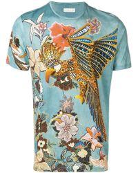 af79eda5010 Lyst - Gucci Jungle-print And Appliqué Linen T-shirt for Men