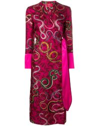 F.R.S For Restless Sleepers - Snake Print Wrap Dress - Lyst