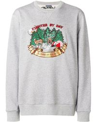 Lanvin Slogan Sweatshirt - Gray