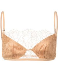367c2bf0f Dion Lee Trace Lace Bandeau Bra in White - Lyst