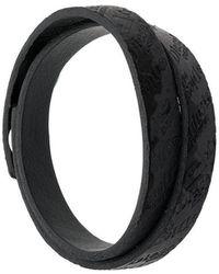 DIESEL - Logo Embossed Bracelet - Lyst