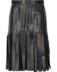 Mugler - Strappy A-line Skirt - Lyst