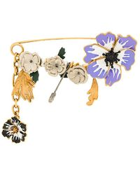 Sonia Rykiel hanging charm pin - Metallic xpOOwPLzG