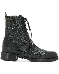 Valentino - Garavani Rockstud Combat Boots - Lyst