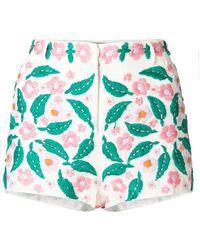 Antik Batik - Floral-embroidered Shorts - Lyst