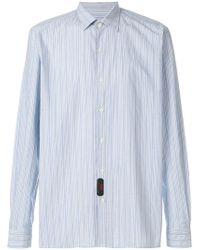 Mp Massimo Piombo - Striped Shirt - Lyst