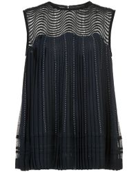 Yigal Azrouël - Midnight Chiffon Sleeveless Top - Lyst