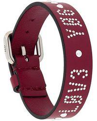 RED Valentino - Red(v) Crystal Embellished Bracelet - Lyst