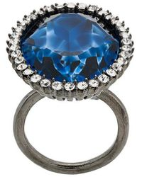 Stella McCartney cocktail stone ring - Metallic
