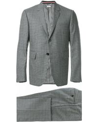 Thom Browne - Classic Suit With Tie In Gingham Prince Of Wales Cool Wool - Lyst