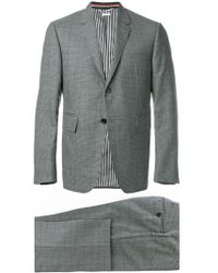 Thom Browne - Gingham Prince Of Wales Suit With Tie - Lyst