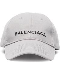 Balenciaga - Grey Cap With Black Logo - Lyst