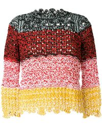 Sonia Rykiel - Scalloped Hem Sweater - Lyst