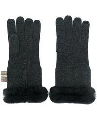 N.Peal Cashmere Handschoenen Van Kasjmierbont - Grijs