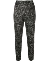 Pleats Please Issey Miyake - Skinny Cropped Trousers - Lyst