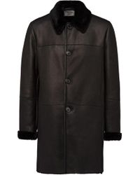 Prada - Shearling Coat - Lyst