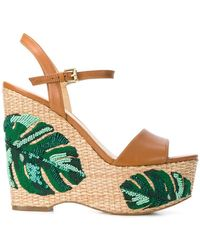 5545ee72e66 MICHAEL Michael Kors - Fisher Palm Embroidered Wedges - Lyst