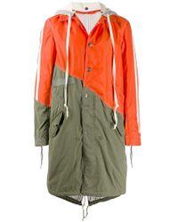 Greg Lauren - Two-tone Hooded Rain Coat - Lyst